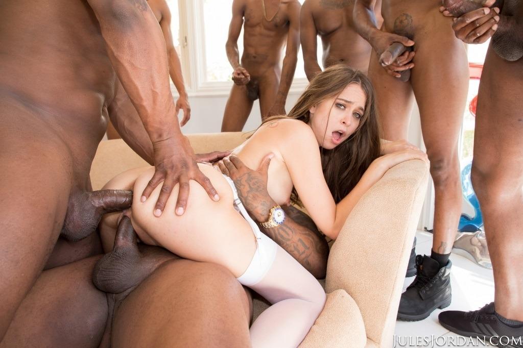 Amber Blank Interracial Anal
